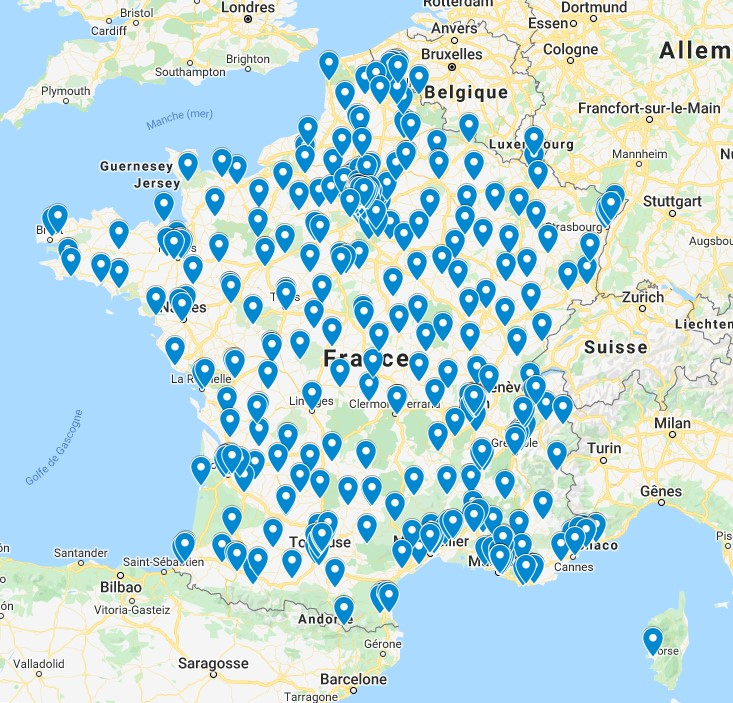 Carte de la répartition géographique des acquéreurs de cabinet d'expertise comptable